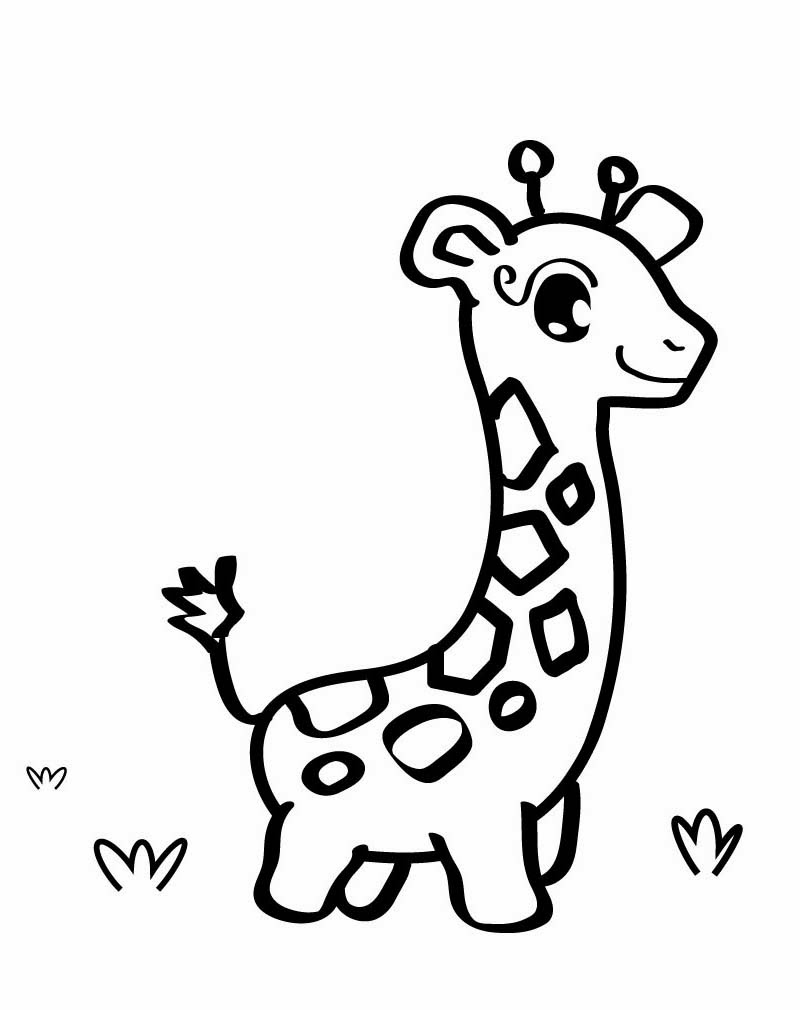 Cute Coloring Pages of Giraffes
