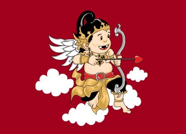 Tokoh Arjuna dalam Bentuk Kartun