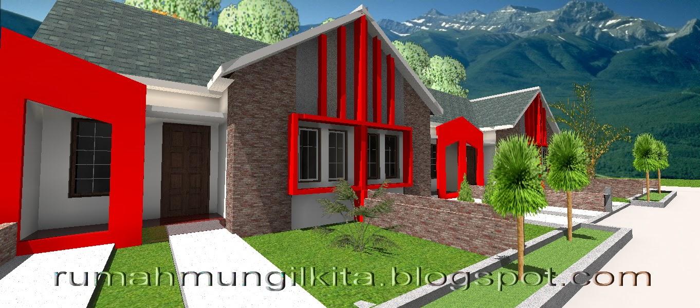 Tampak luar rumah tipe 36 tanah 72 m2 dengan desain unfurnished