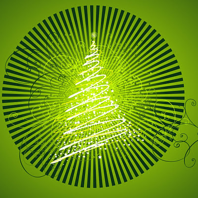 Vector Christmas tree design download free wallpapers for Apple iPad