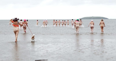 Brave souls go for Dip in the Nip to raise money for cancer charities at Pilmore Beach in Cork