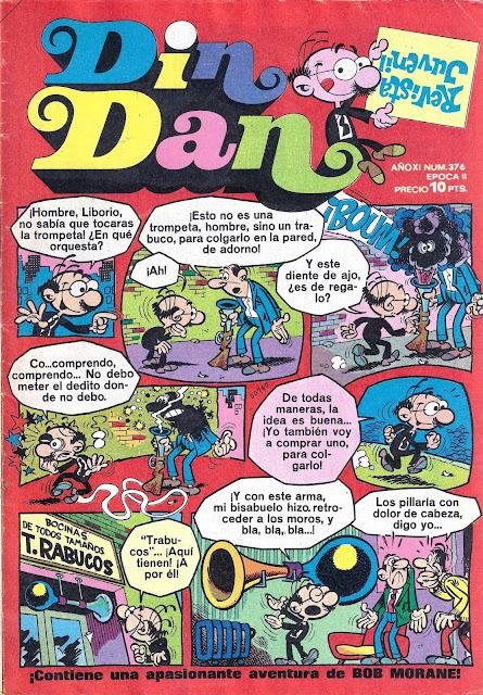Portada de Din Dan Nº 376 Ediciones Bruguera