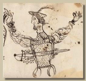 Sacco di Prato in un disegno spagnolo dell'epoca