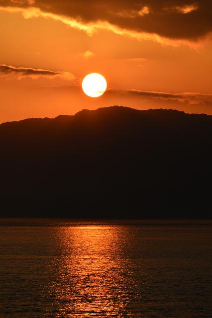 大久野島の朝日
