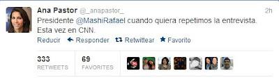 Ana Pastor responde a declaraciones de Correa
