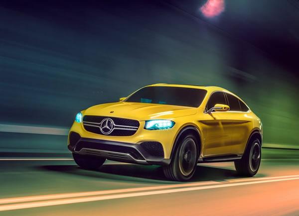 メルセデス「GLC Coupe Concept」のフロント画像その2