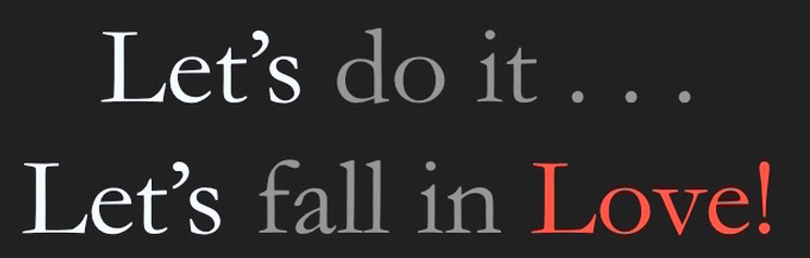 s do it let s fall in: