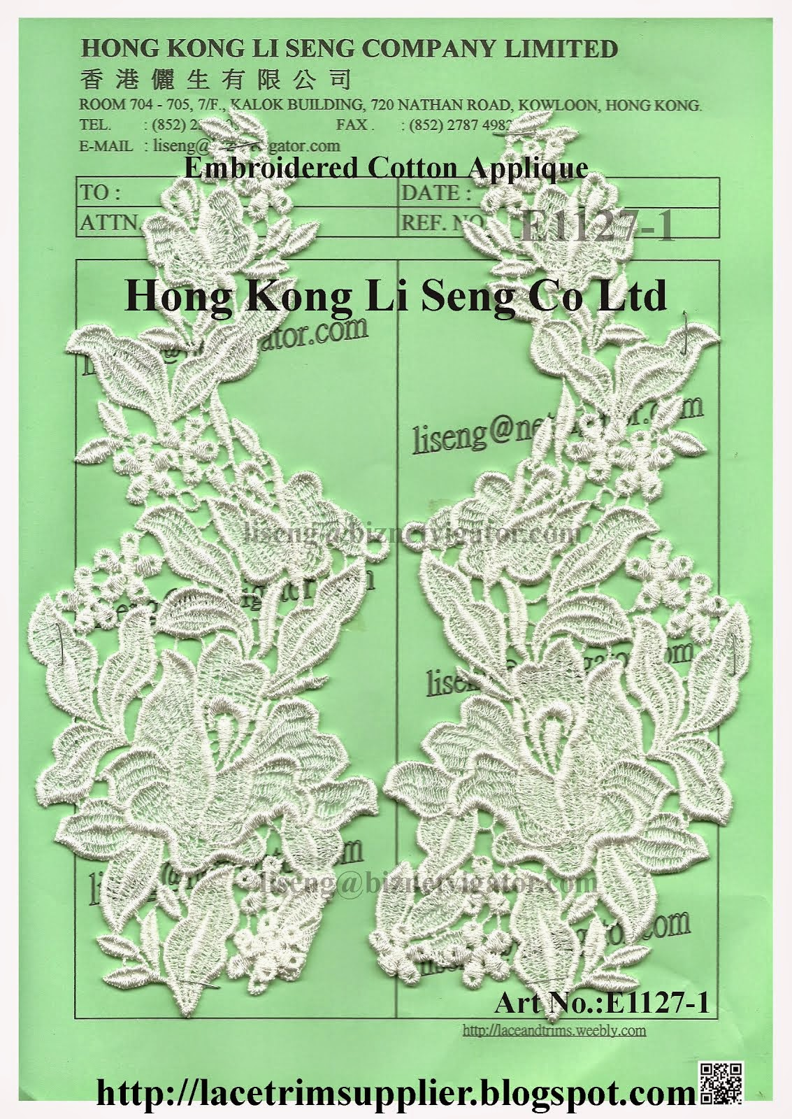 Daily Update New Lace Pattern - Hong Kong Li Seng Co Ltd