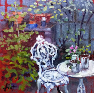 Paola's Patio by Liza Hirst
