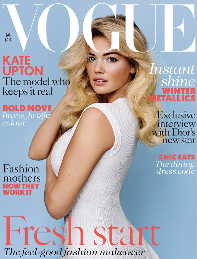Kate Upton Vogue UK cover January 2013