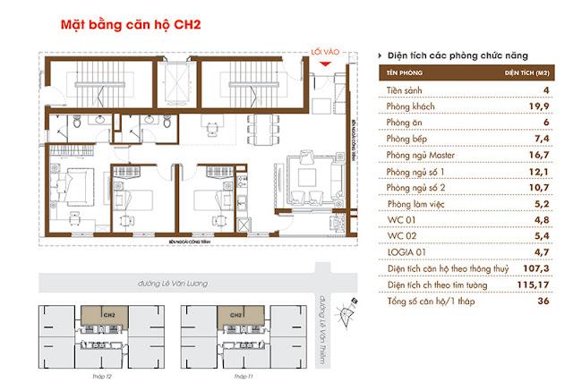 Căn 02 chung cư Time Tower - HACC1 Complex