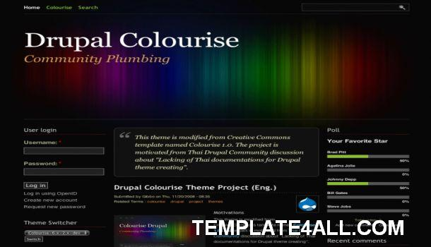 Design Portfolio Black Abstract Drupal Theme