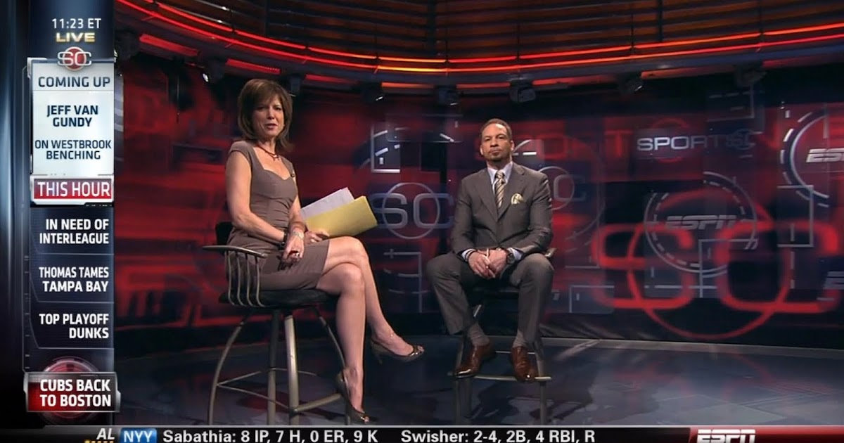 Espn S Hannah Storm Sexy Legs On Sportscenter Sexy Leg Cross