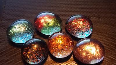 glass beads with glitter