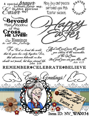 Digital word art sentiments for Easter