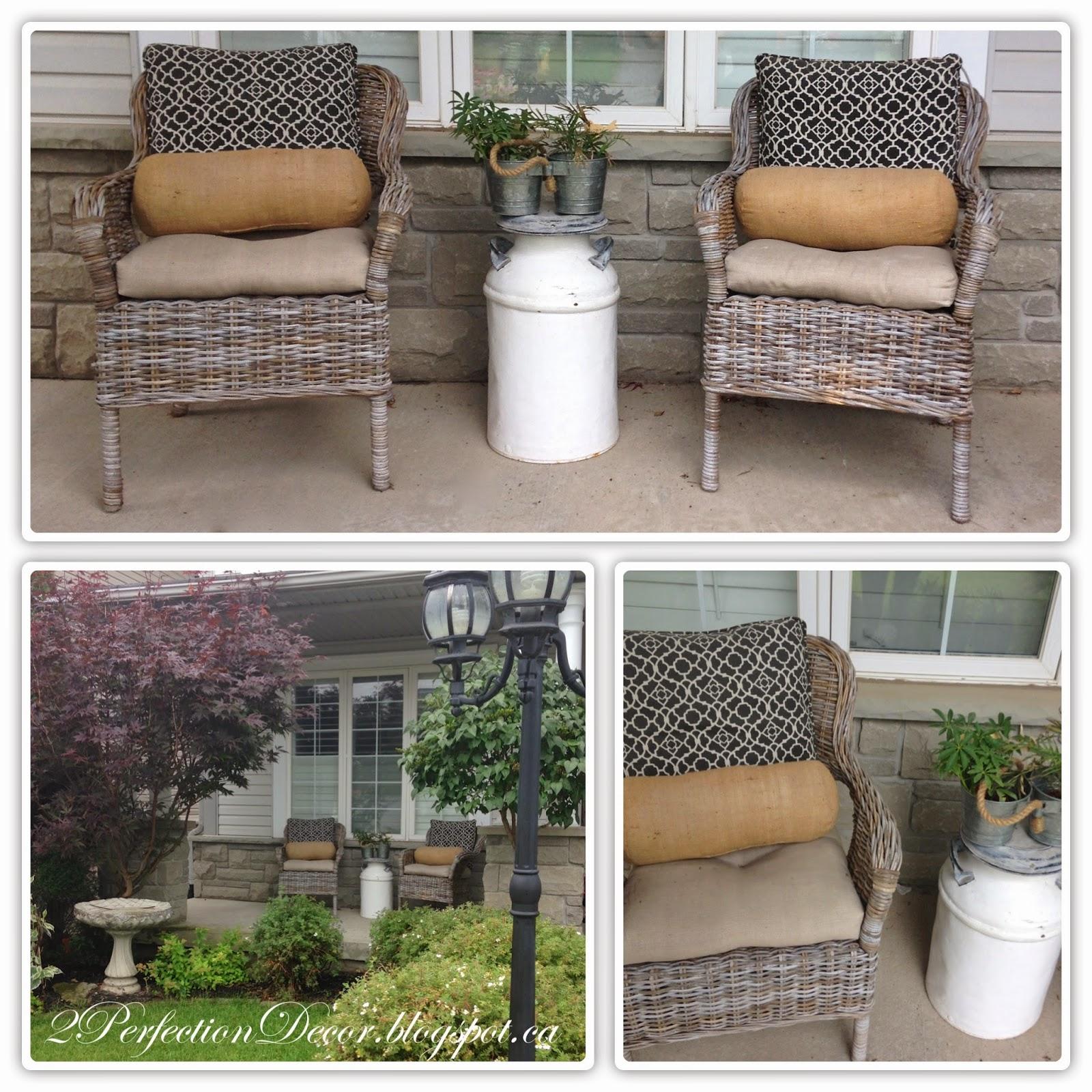 2Perfection Decor Summer Porch Love of Galvanized Steel & Burlap