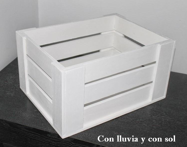 Con lluvia y con sol cajas de madera para guardar y decorar - Cajas de madera para decorar ...