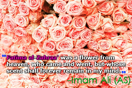 Fatima al-Zehraa was a flower from heaven, who came and went, but whose scent shall forever remain in my mind.