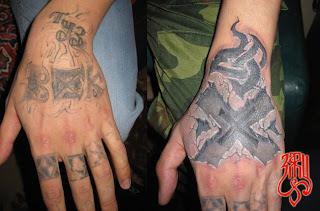 Straight Edge татуировка на месте уголовной