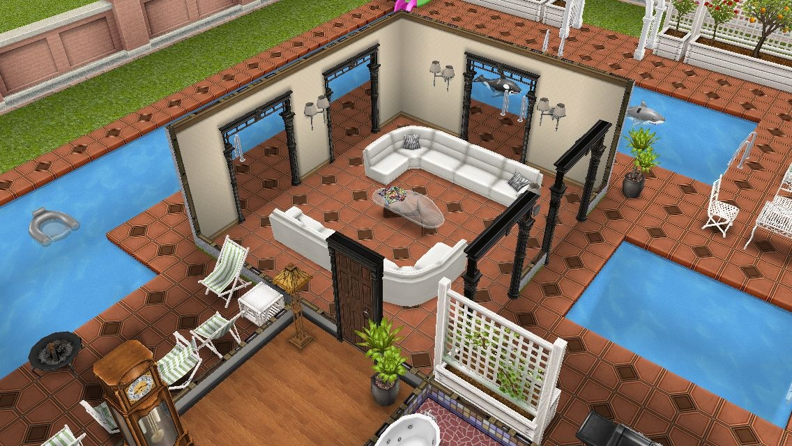 Dise os casas sims freeplay 1 piso casa dise o for Casa de diseno sims freeplay