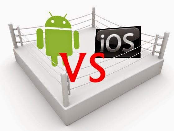 Perbedaan smartphone android dan iOS