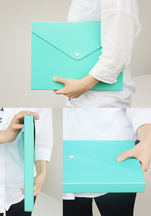 Paper Briefcase A4 File Box Case