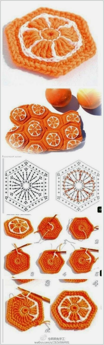 Hermosos grannys con diseño de naranjas