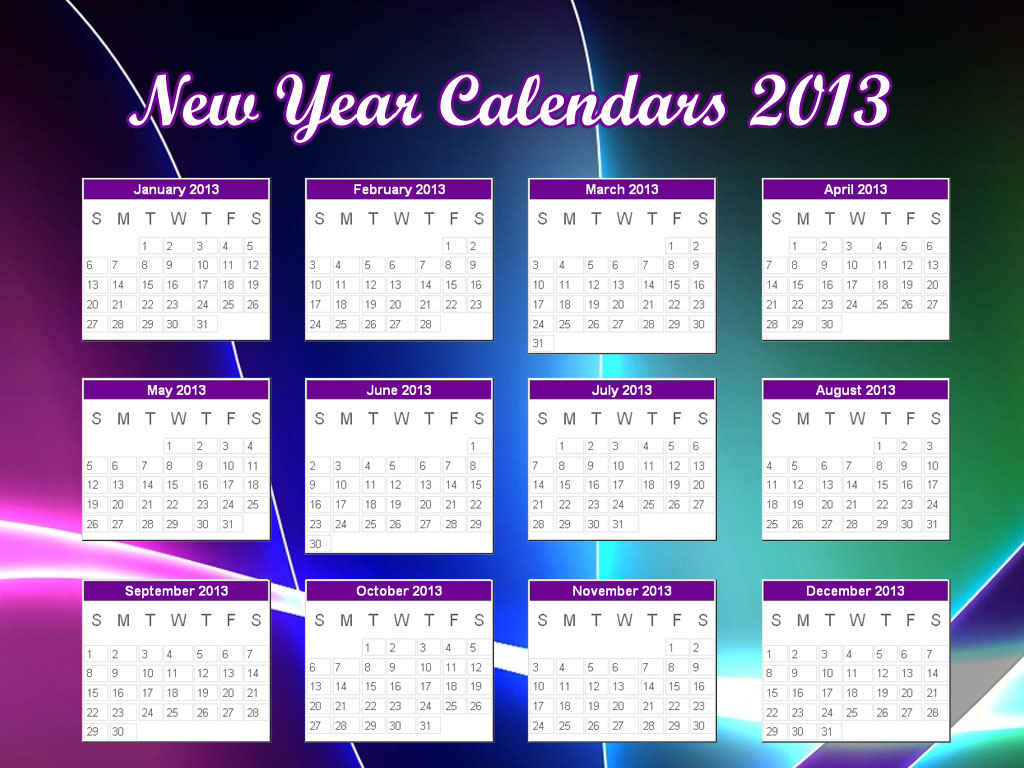 2013 CALENDAR WITH US HOLIDAYS ONLINE