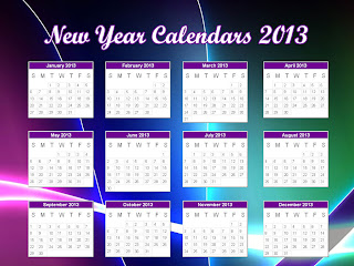 New Year Desktop Calendars 2013: Decorate Desktop with New Year Theme