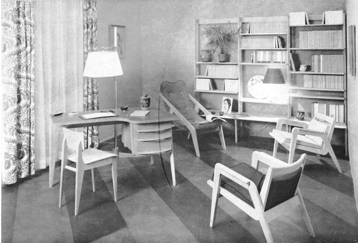 Art utile meubles de s rie arts m nagers 1948 for Salon leleu