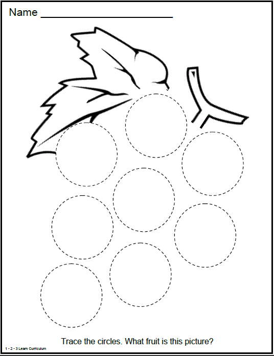 Preschool worksheets circles : Preschool Circle Shape Activities