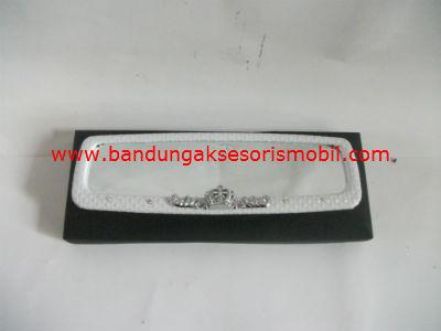Kaca Spion PVC Mahkota Berlian White