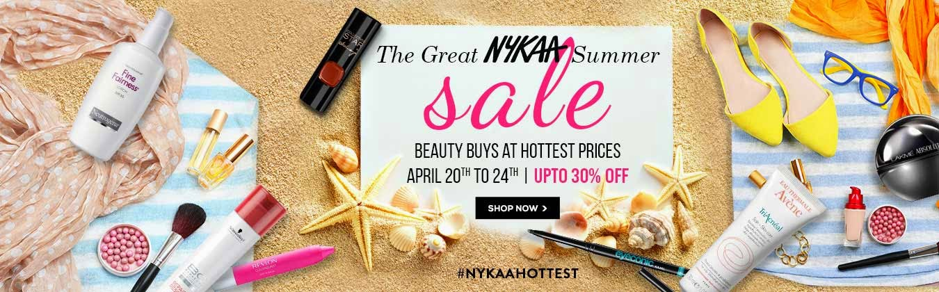 Get #Nykaahottest this Summer with the Great Nykaa Summer Sale, Press reease, online makeup discount sales at nykaa, indian makeup and beauty blog, indian beauty blogger, Nykaa.com deals