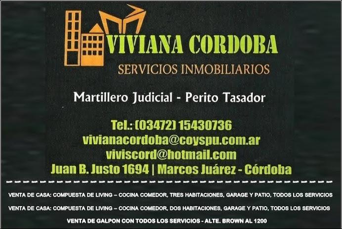 ESPACIO PUBLICITARIO: VIVIANA CORDOBA - SERVICIOS INMOBILIARIOS