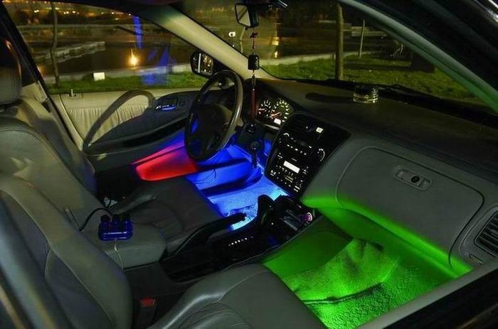 Подсветки для машины своими руками
