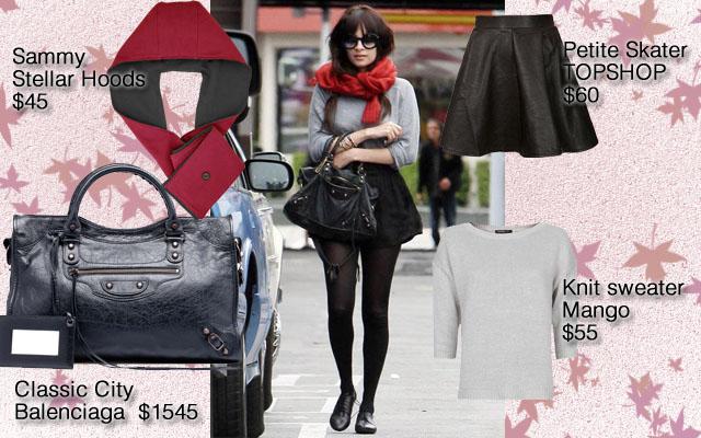 Stellar hoods, sammy, hoodie, hood scarf, hooded scarf, hoodie scarf, hood-scarf, Wynzie Chai, red scarf, celeb, nicole richie