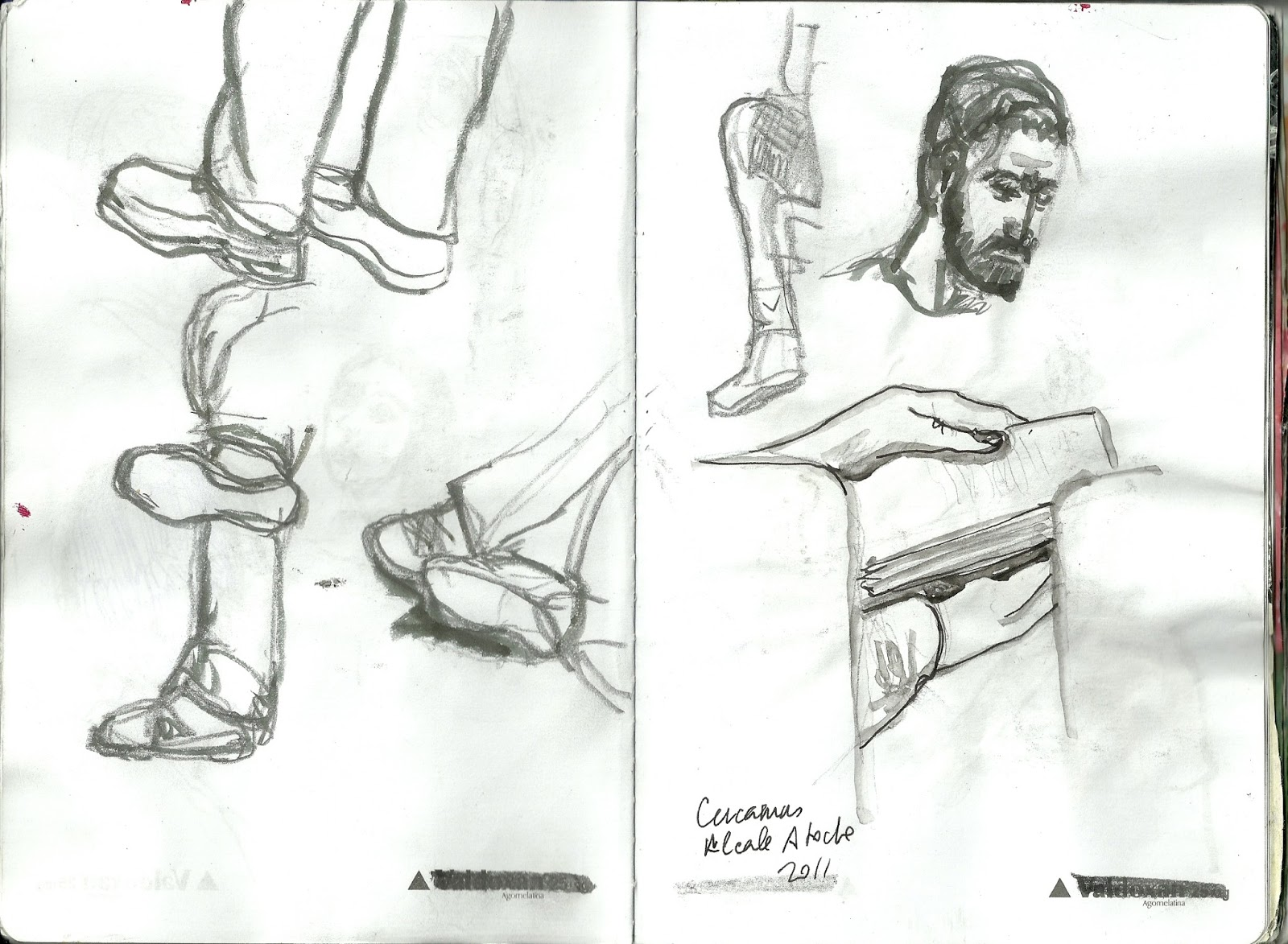 Dibujando en el tren