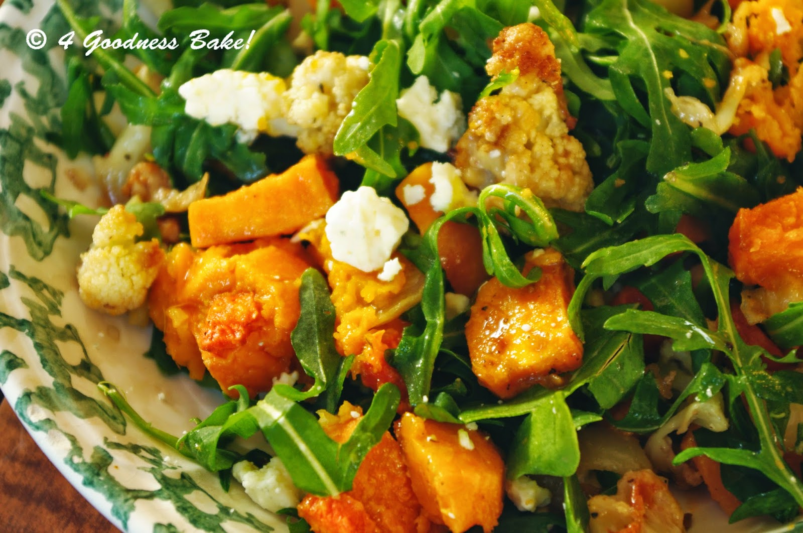 goodness bake!: Arugula, Roasted Sweet Potatoes and Gorgonzola Salad ...