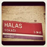 Street Sign Beyoglu