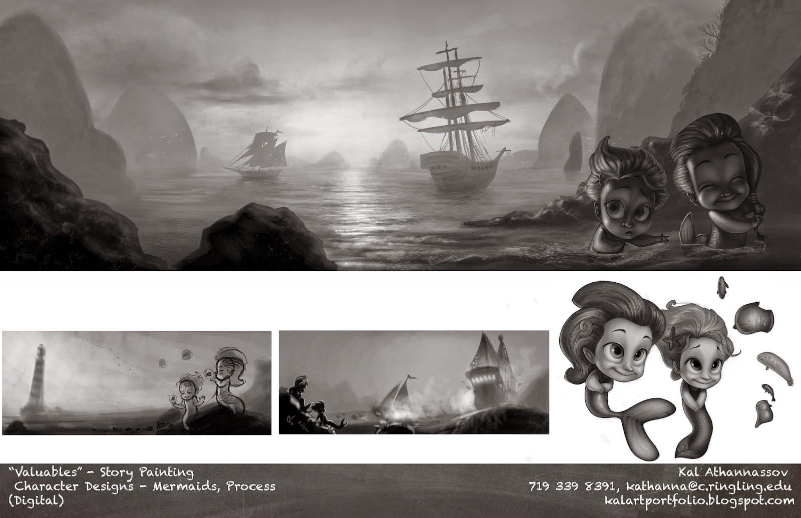 Character story painting mermaids Kaloyan