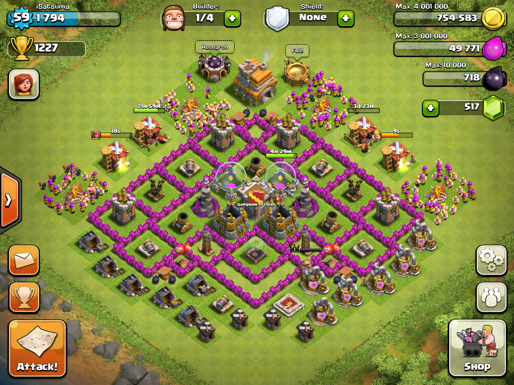 Town Hall 7 Christmas Base December 2014 Clash Of Clans Best Apps