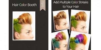 Mewarnai Rambut Dengan Aplikasi Hair Color Booth