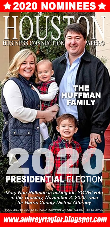 Mary Nan Huffman Values Your Vote, Prayers, and Support on Tuesday, November 3, 2020