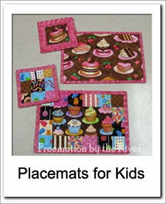 Free Place mats for kids Tutorial at Freemotion by the River