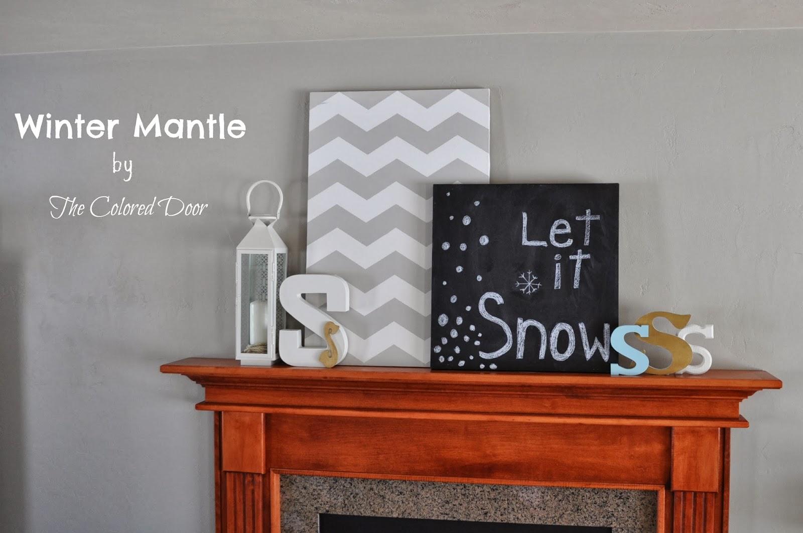 Winter Mantle  - the colored door