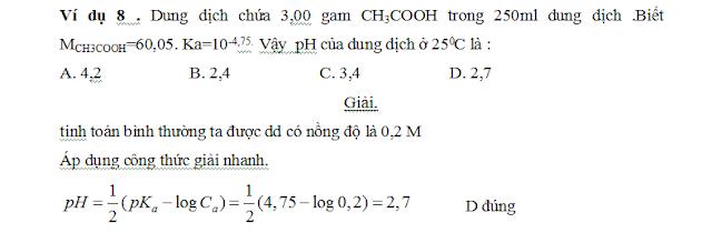 công thức tính nhanh pH và pOH - gia sư tại nhà - 5