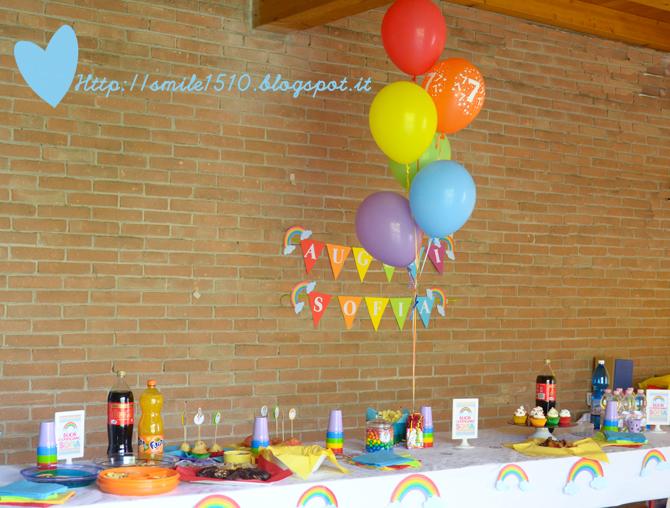 Molto Ballando con Sofia: Decorazioni per una festa a tema arcobaleno GN53
