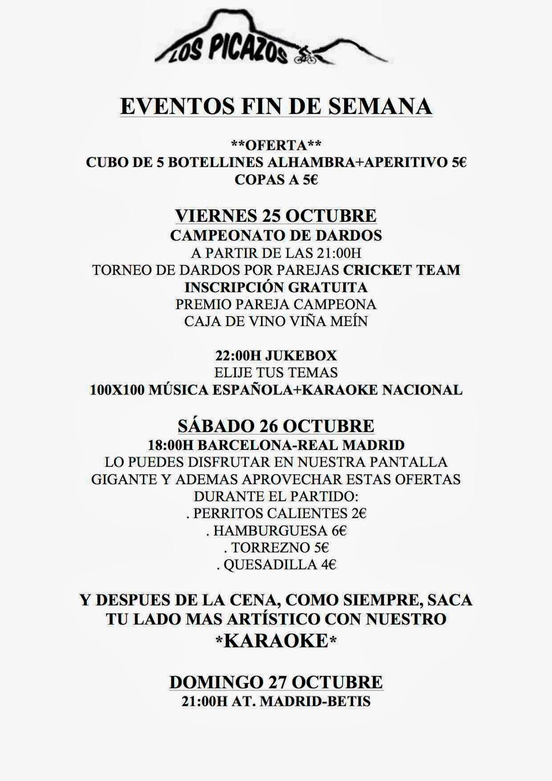 Los picazos restaurante octubre 2013 for Eventos en barcelona este fin de semana