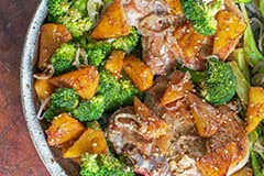 Pork, Pineapple & Broccoli w/ Balsamic Sesame Sauce