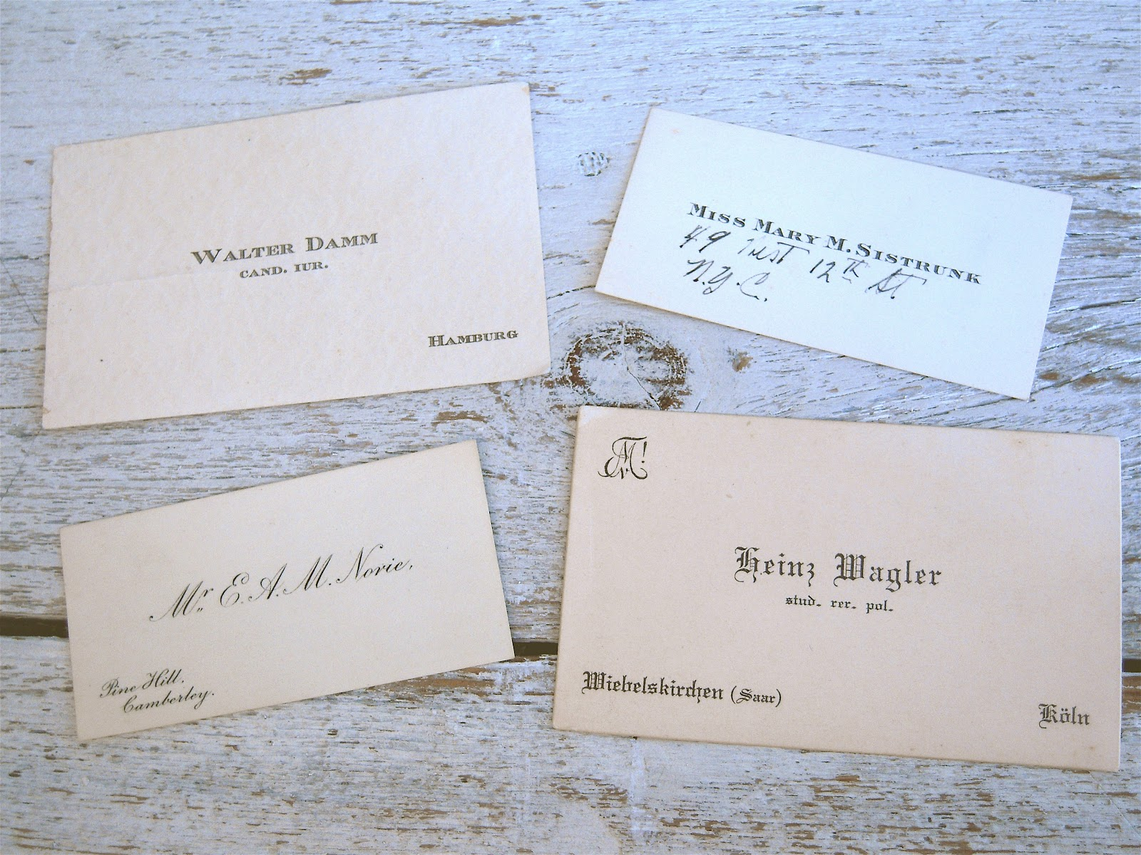 The evolution of the business card on paper calling cards reheart Choice Image
